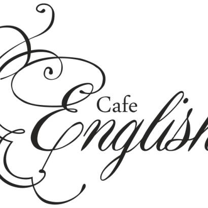 Naklejka Cafe English