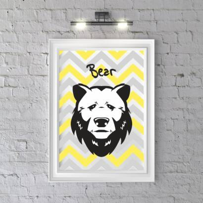 Plakat Head BEAR