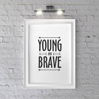 Plakat Kreska YOUNG AND BRAVE