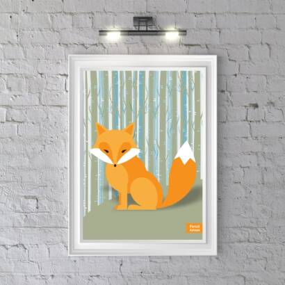 Plakat Forest Animals Fox