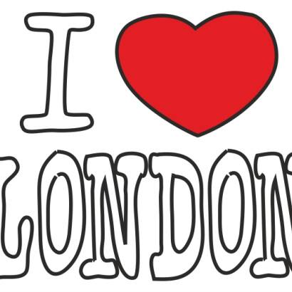 Naklejka dwukolorowa - I love London