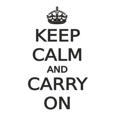 Naklejka KEEP CALM AND CARRY ON