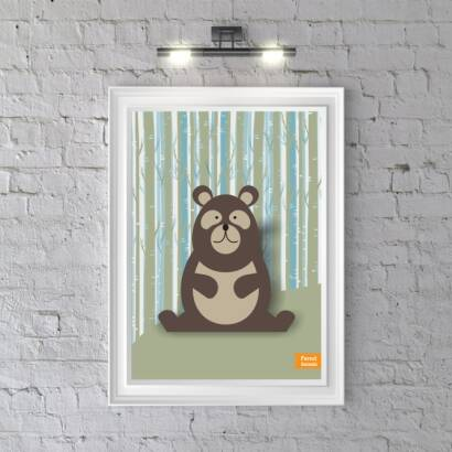 Plakat Forest Animals Bear