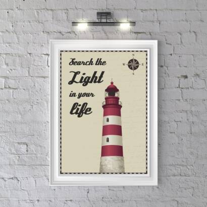 Plakat Search the light in your life