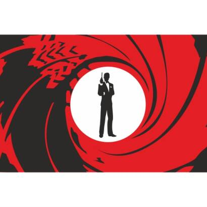 Naklejka dwukolorowa - James Bond