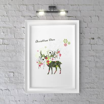 Plakat Christmas Deer